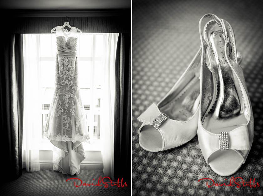 dress and shows before the wedding