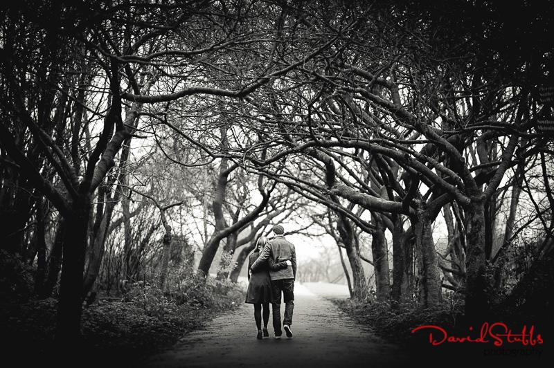 Heaton park Enagement shoot under trees