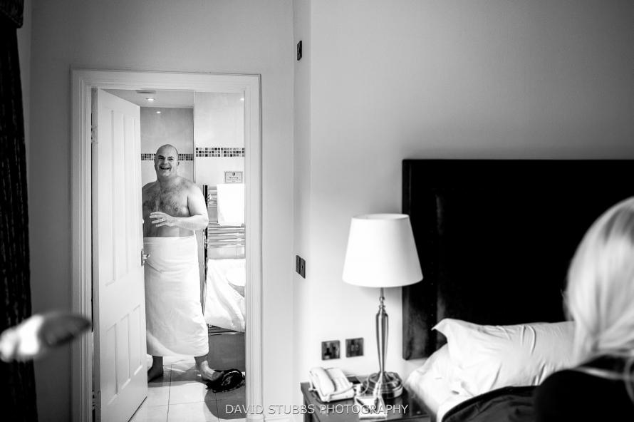 in towel
