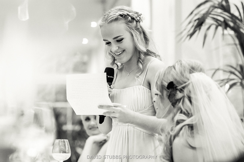 brides daughter doing speech