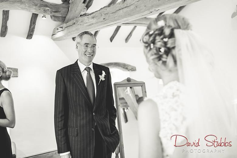 dad seeing bride