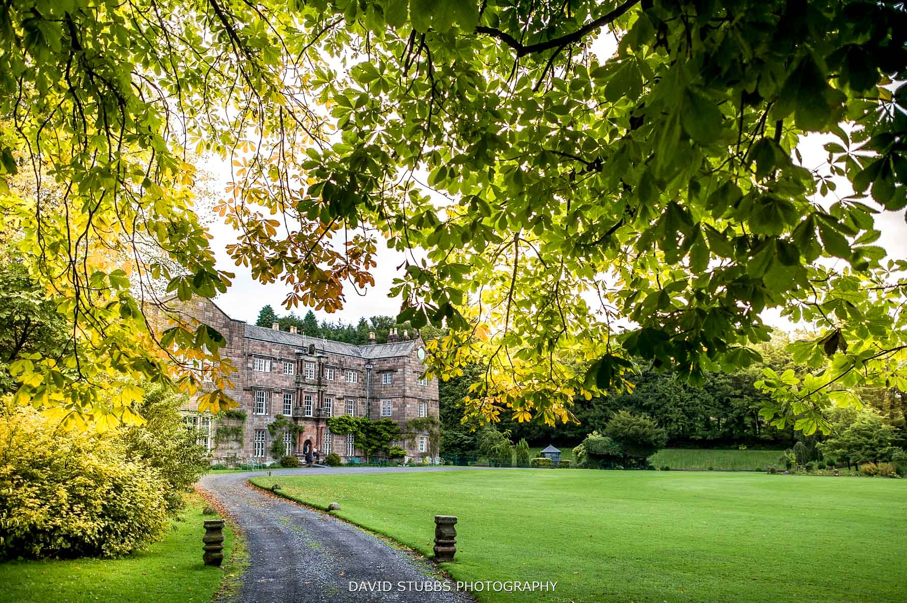 Browsholme hall in autumn