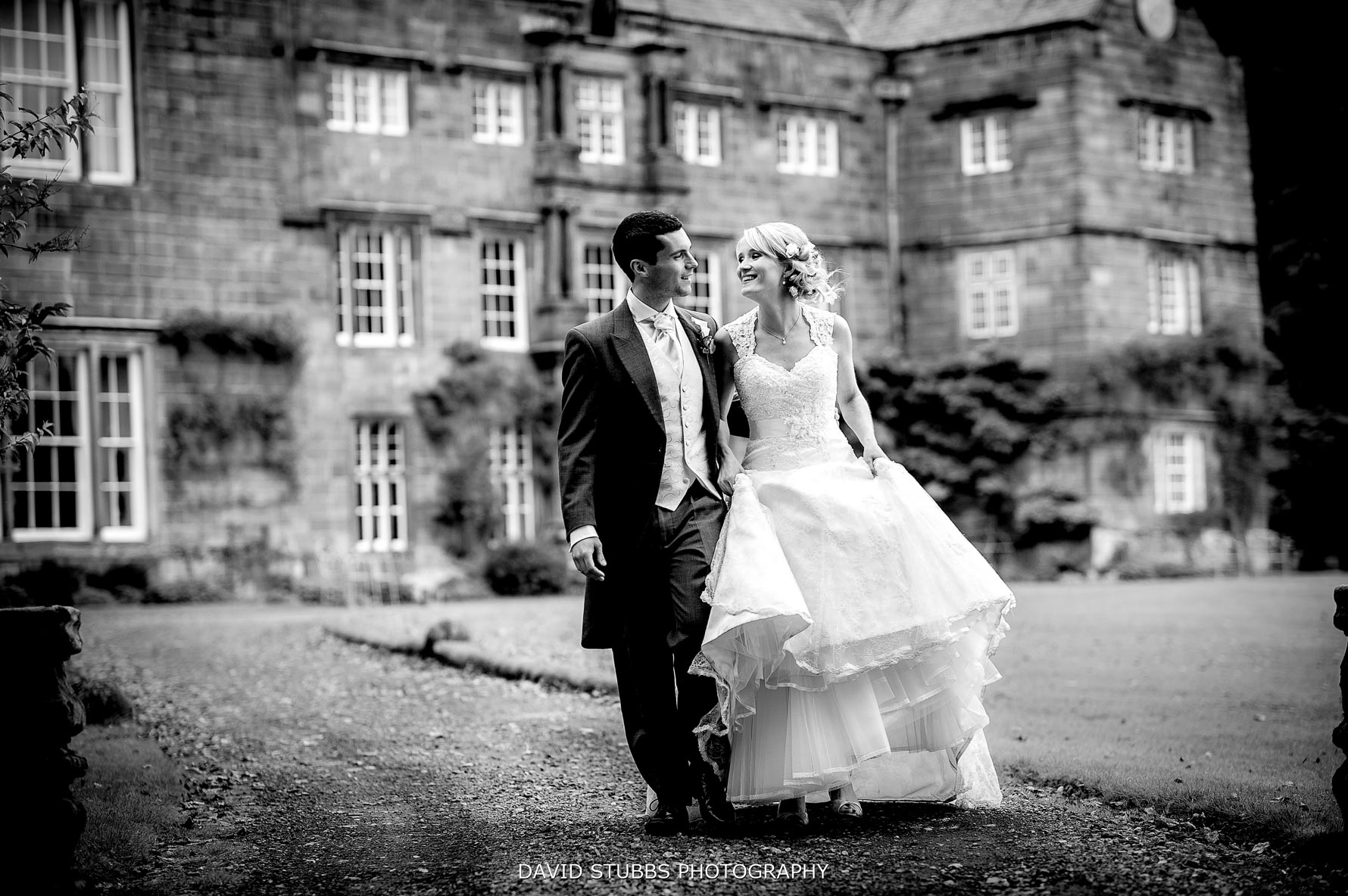 natural wedding photo at browsholme hall