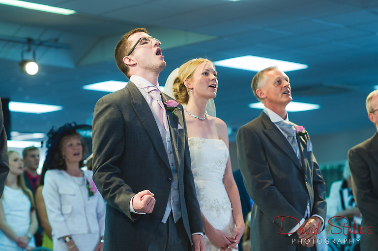 singing during wedding service