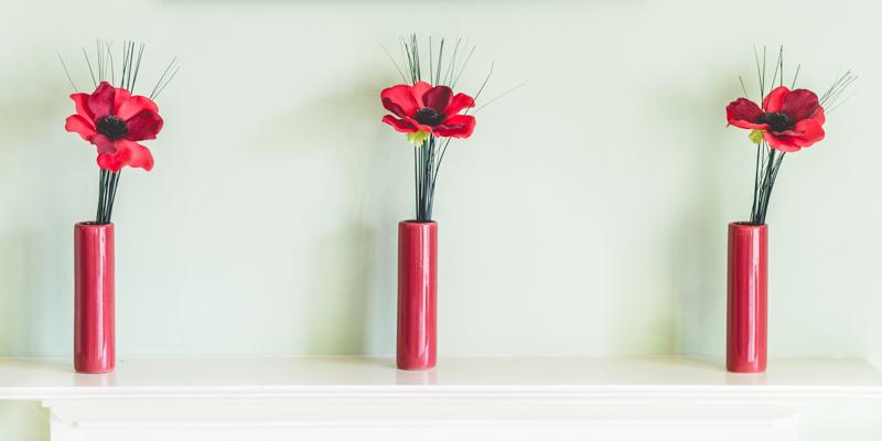 flowers in room