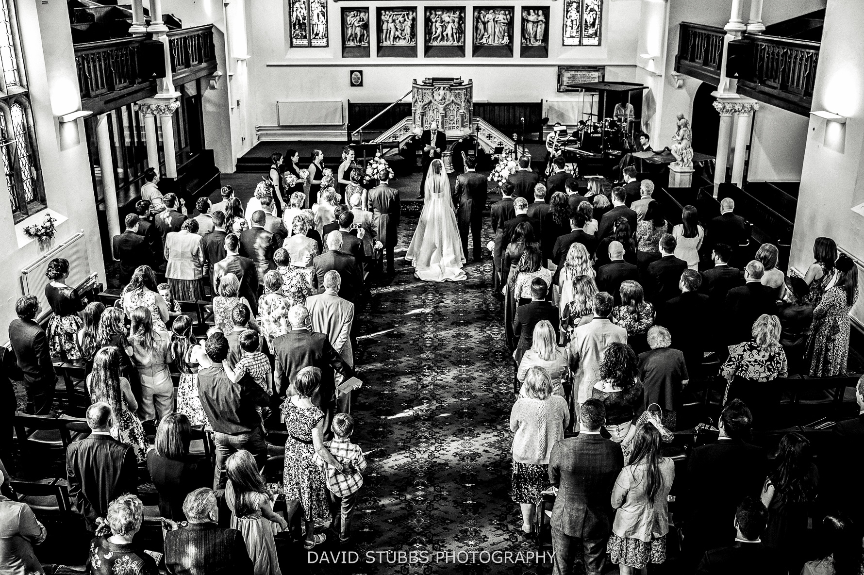 high angle of the wedding ceremony