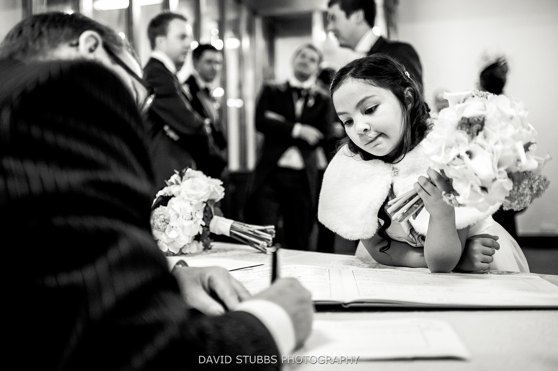 signing the register for marriage