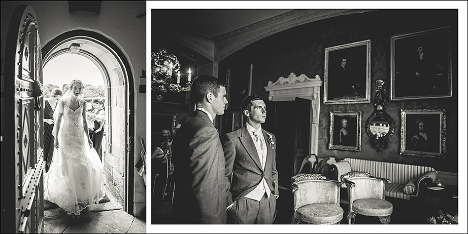 groom waiting in the room just before ceremony