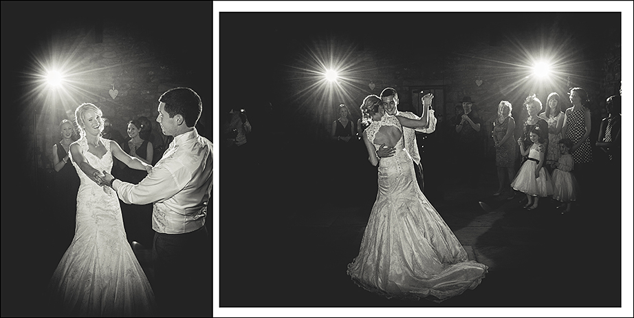 first dance in black an white