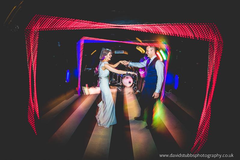 dance room with wedding band
