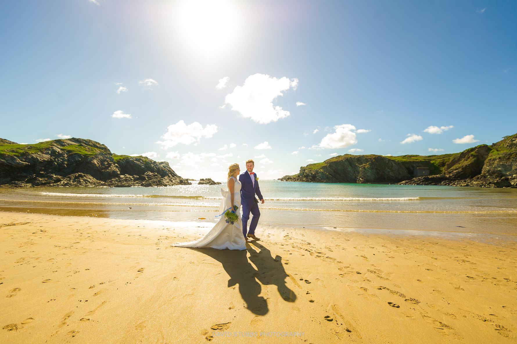 beach wedding anglesey photo