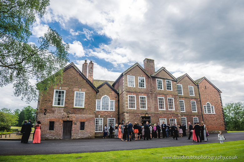 drinks reception at adlington hall cheshire