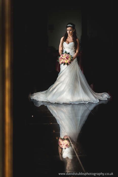 reflection photography of the bride