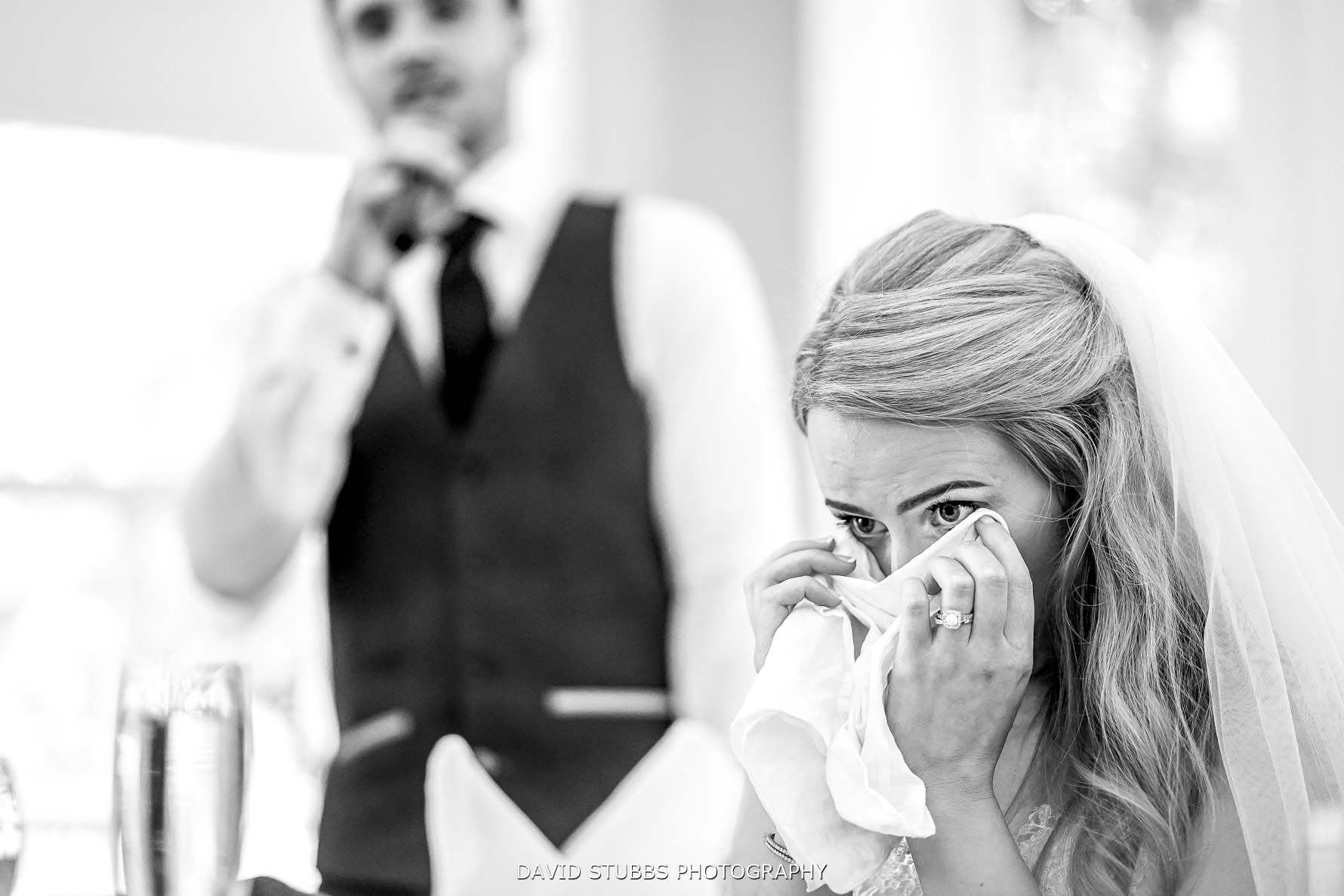 tears from the bride