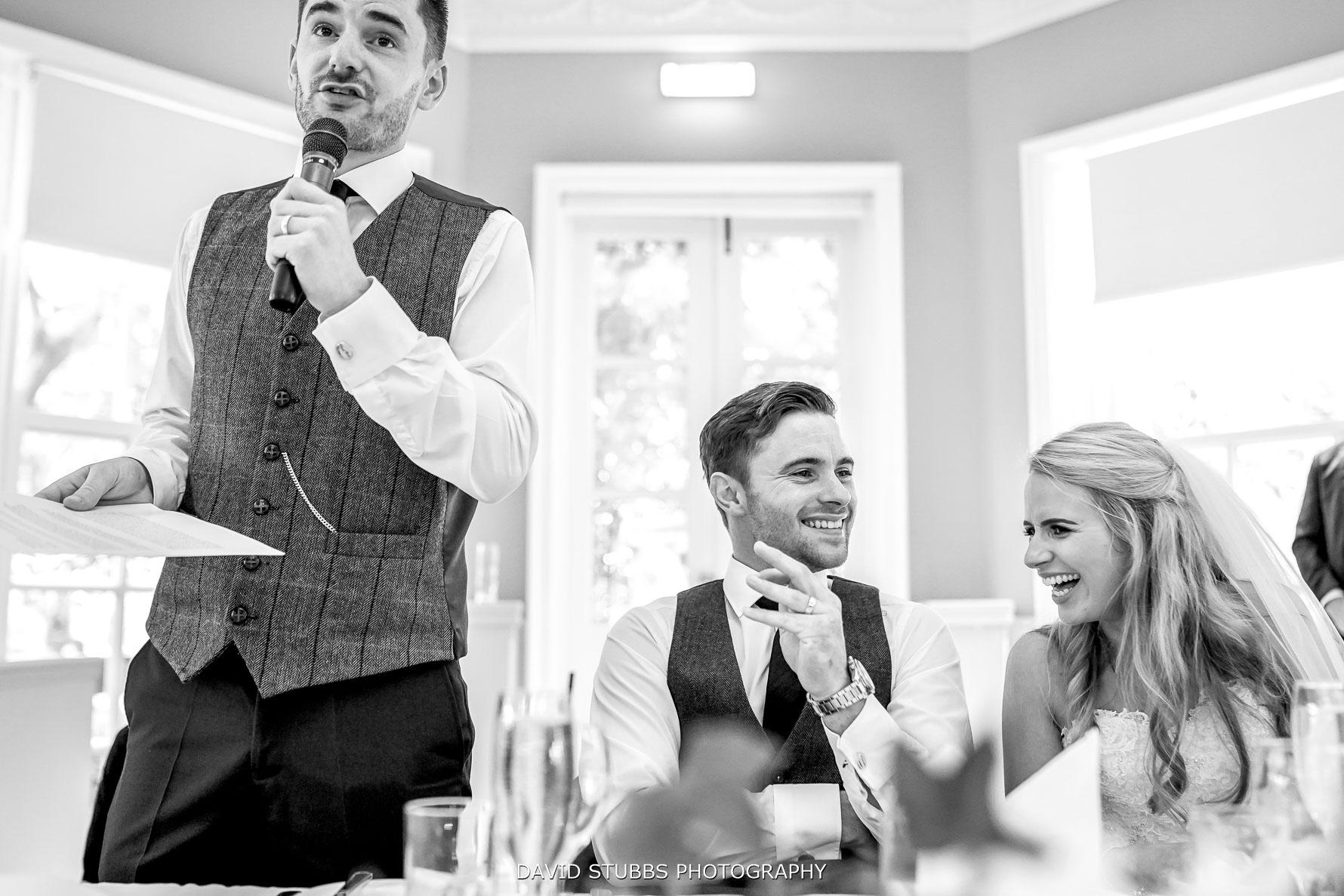 best man gives a funny speech