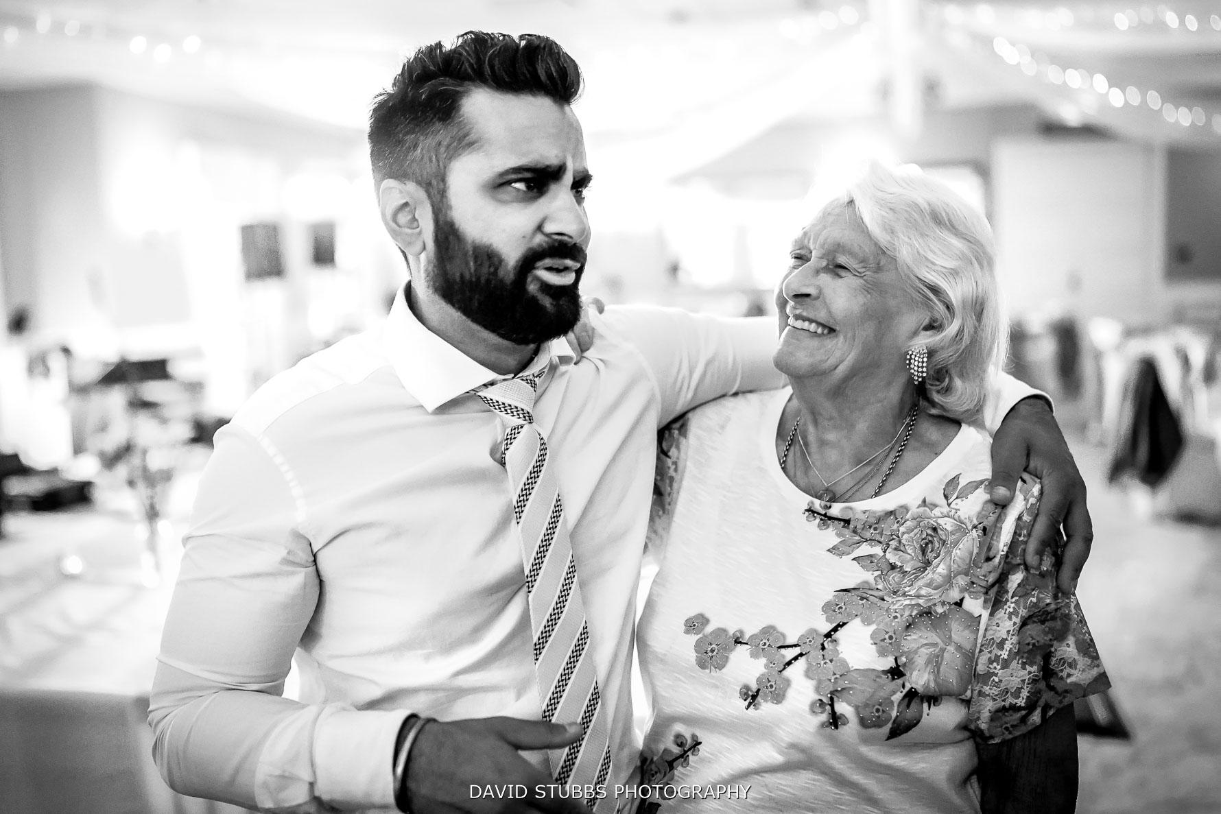 gran having the best wedding day