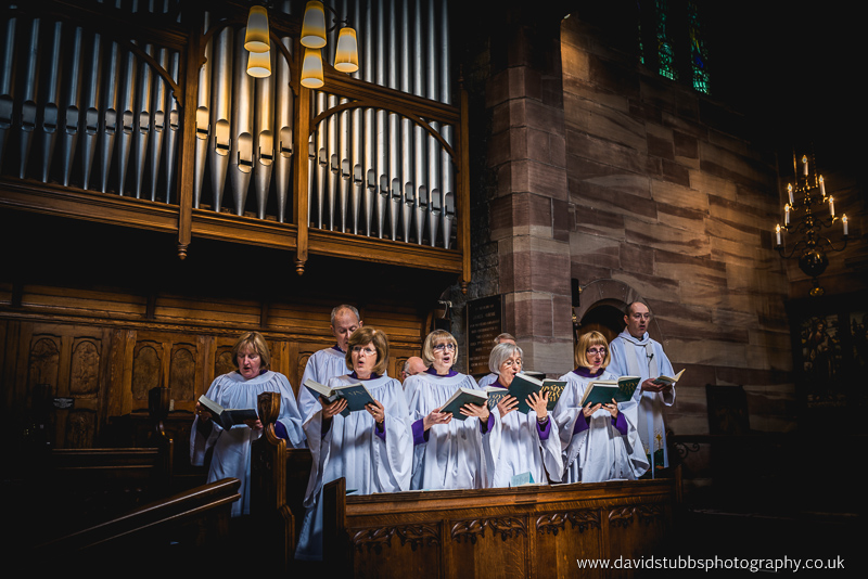 choir int he church for their wedding