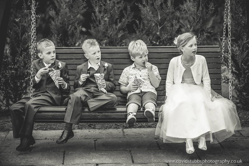 children sat the swing