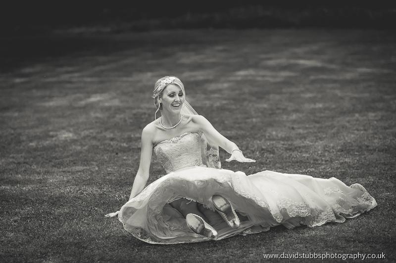 bride falling over
