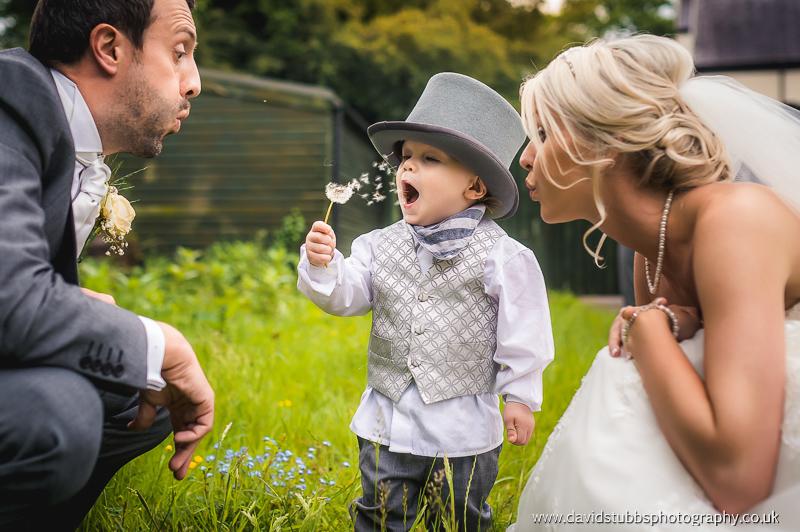 family photo at wedding