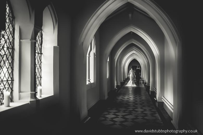 dramatic black and white walking away