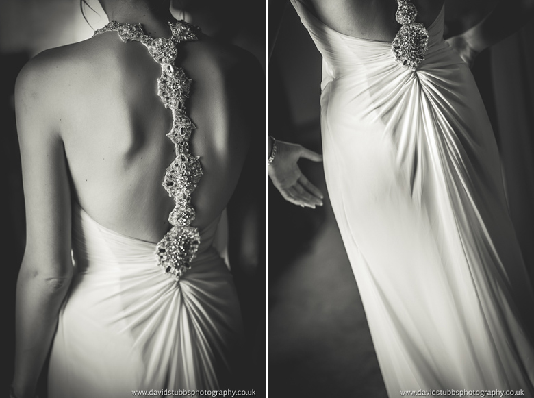 back fo Jo's dress in black and white