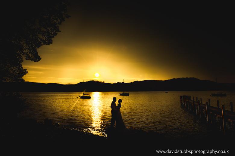 lake district wedding sunset