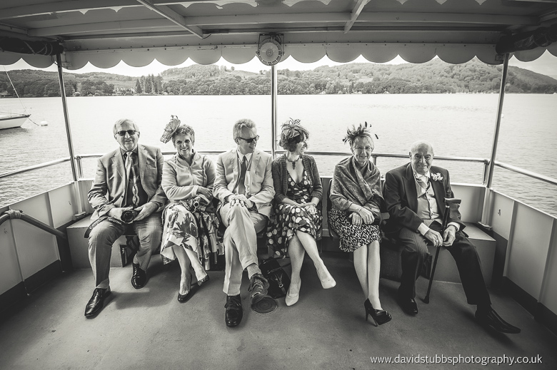 guests seated in balck and white