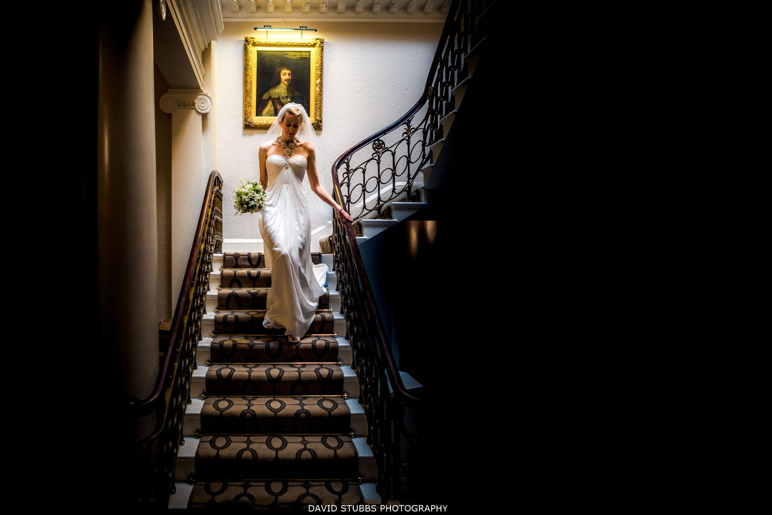 storrs hall wedding stairs