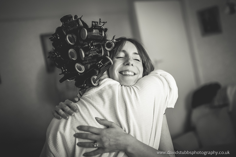 friend giving a big hug and smile