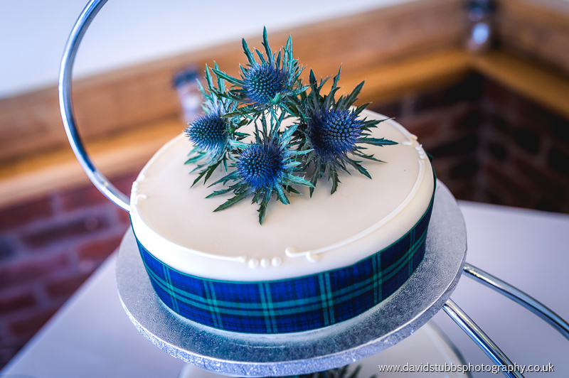 scotish weddign cake