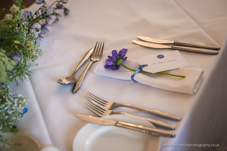 cutlery and flower