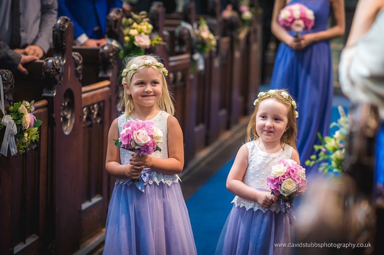 little girls in aisle