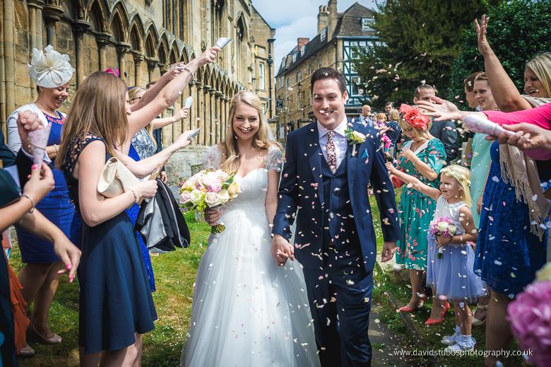 confetti photo in stamford, lincolnshire
