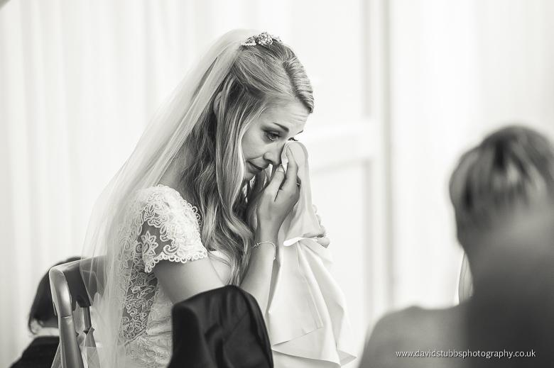 bride tears