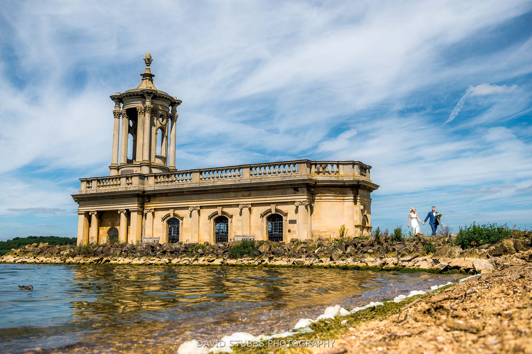 Normanton church with couple wedding