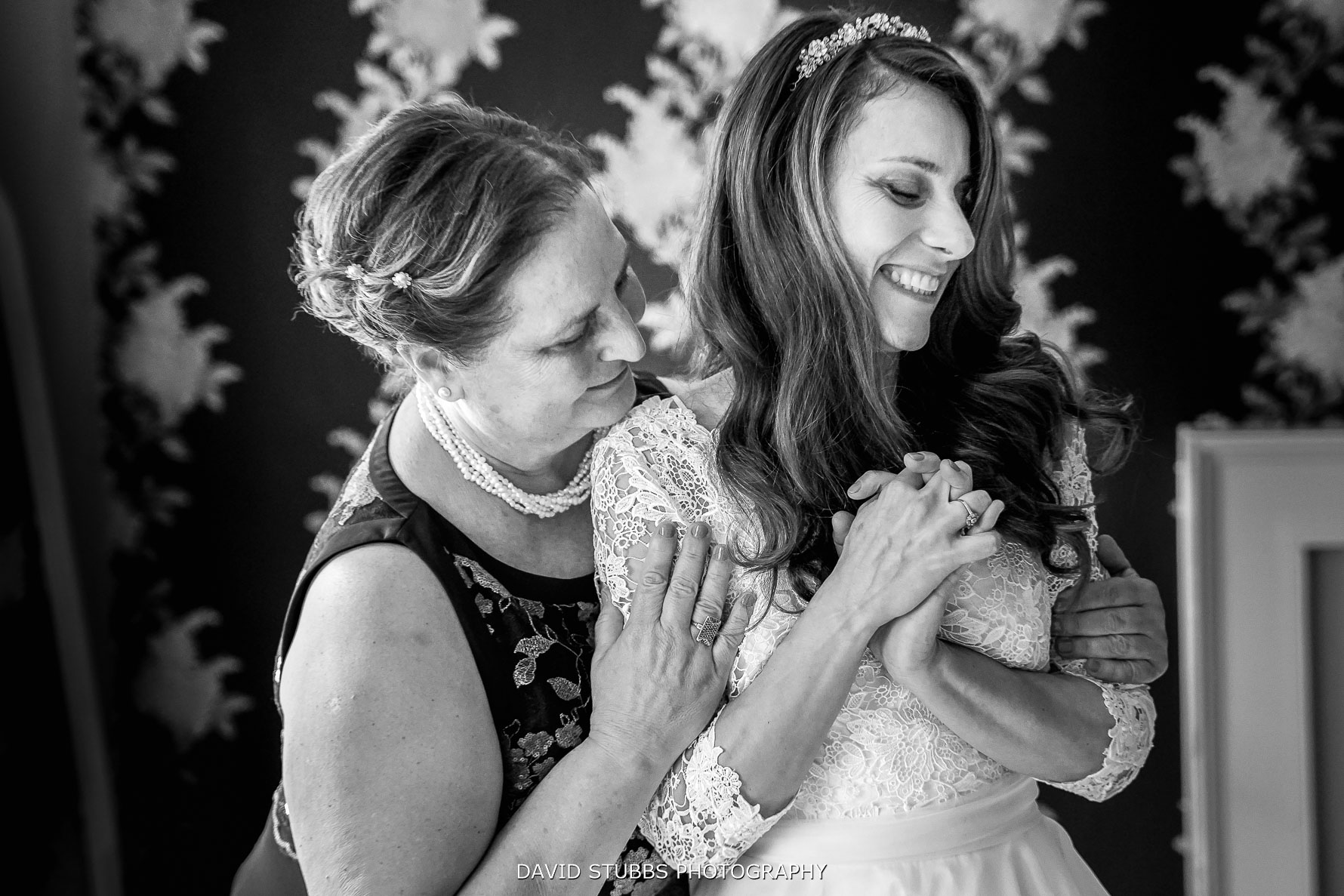 lovely moment between bride and mother