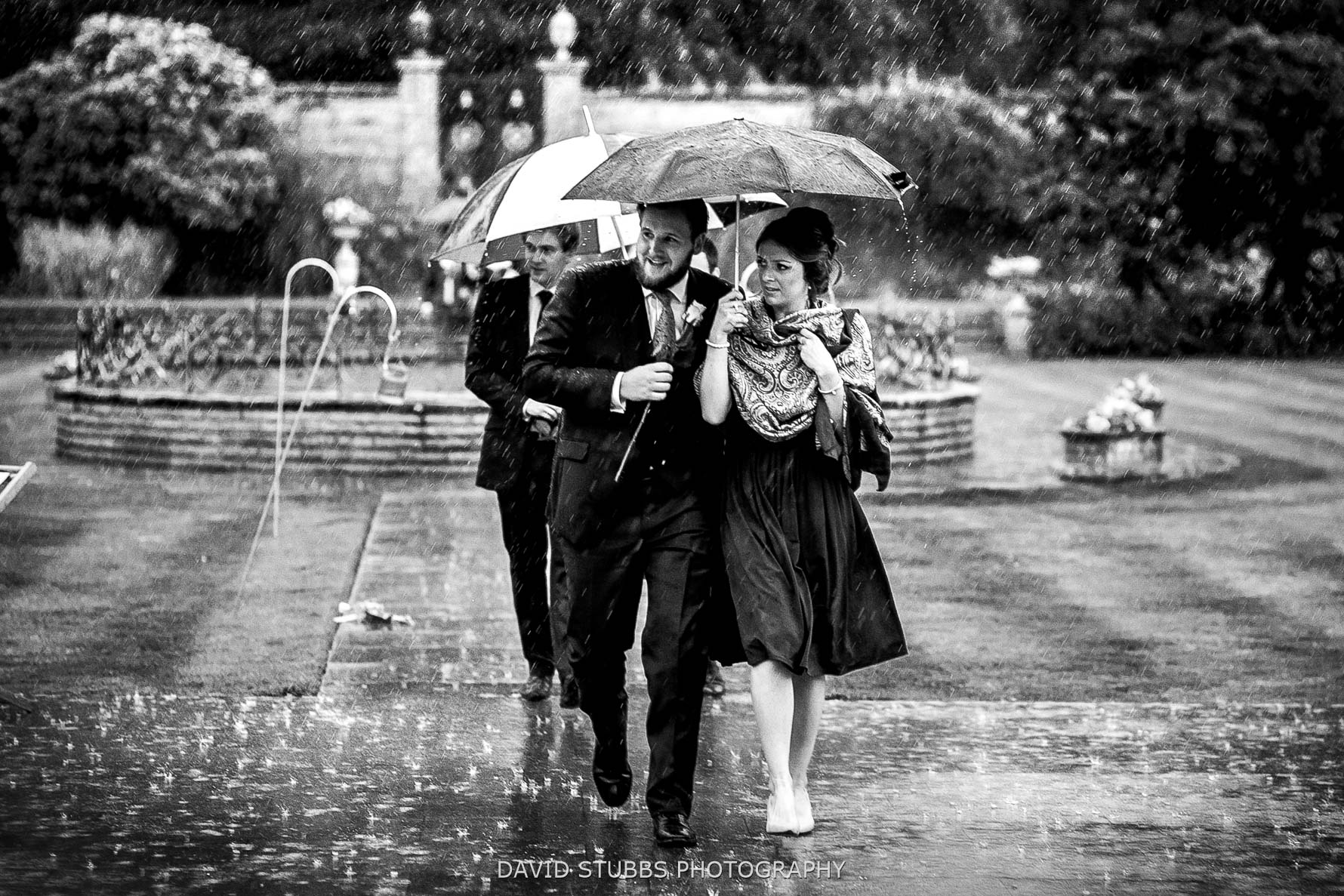 rain and rain at a wedding