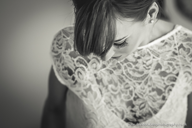 eye lash wedding photo in black and white