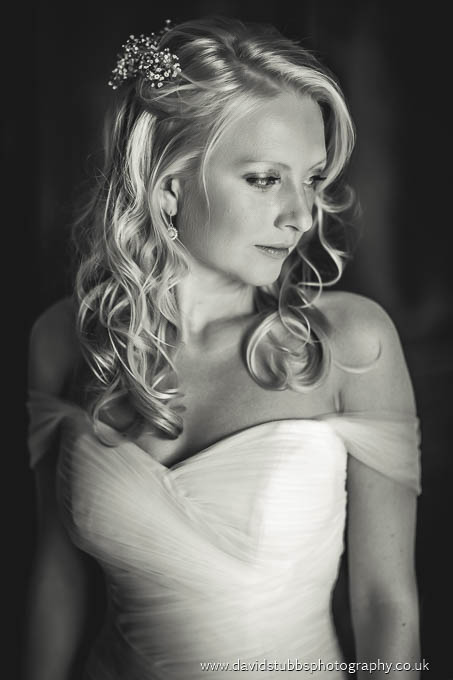 blonde woman black and white