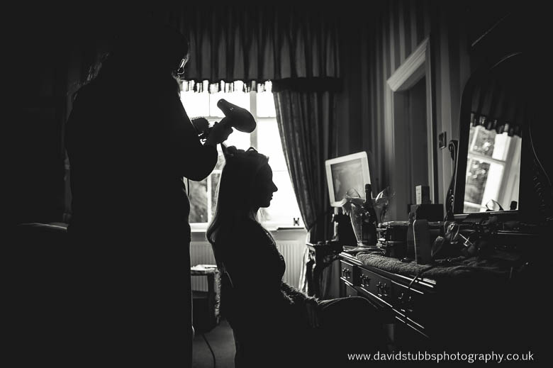 bride silhouette hair