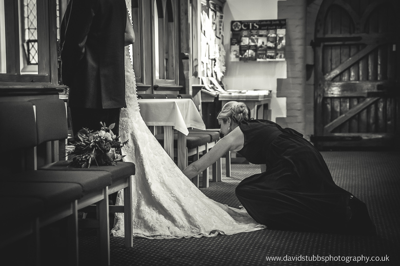 dress being fixed