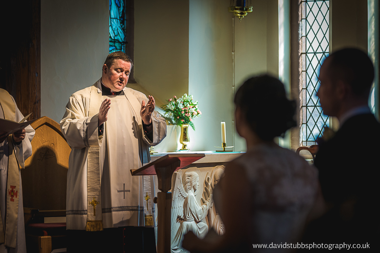 vicar conducting ceremony