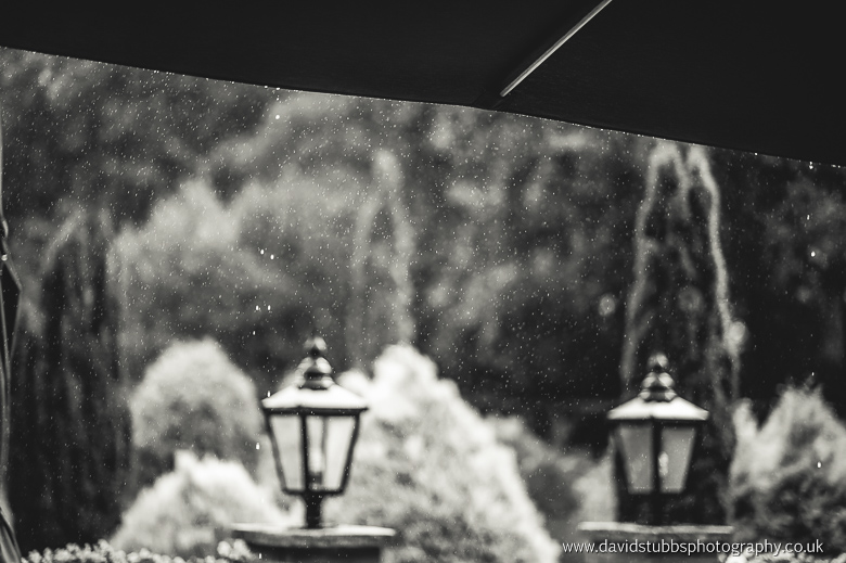 raindrops falling outside marquee