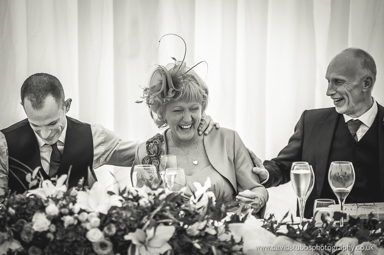 grooms mother laughing