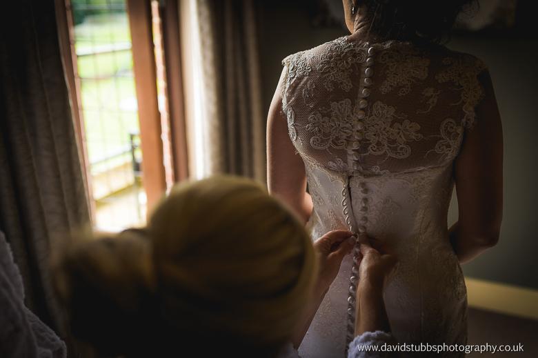 woman with wedding dress