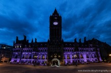 manchester town hall night sky