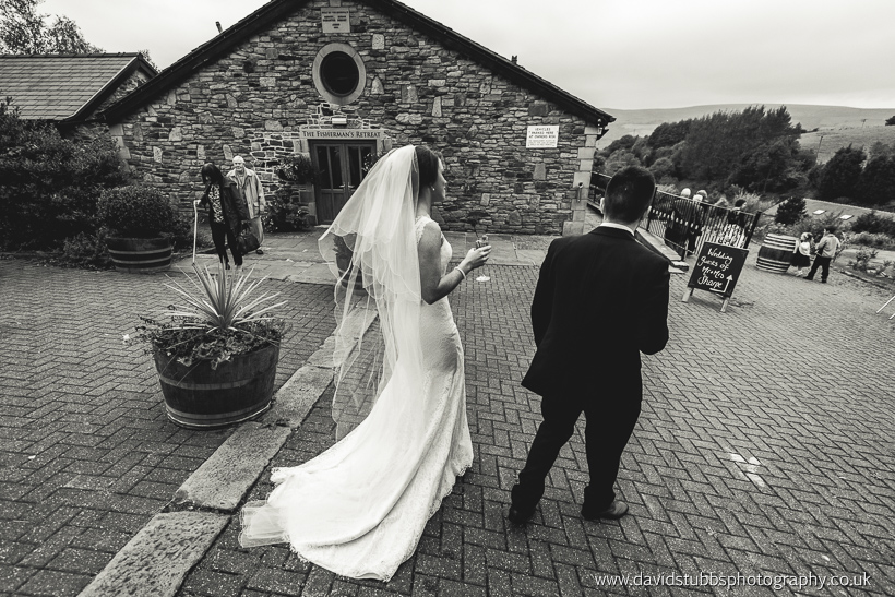 married couple at fisherman's retreat wedding photo