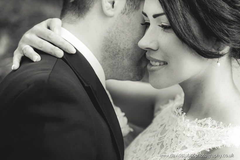 just married couple close up black and white