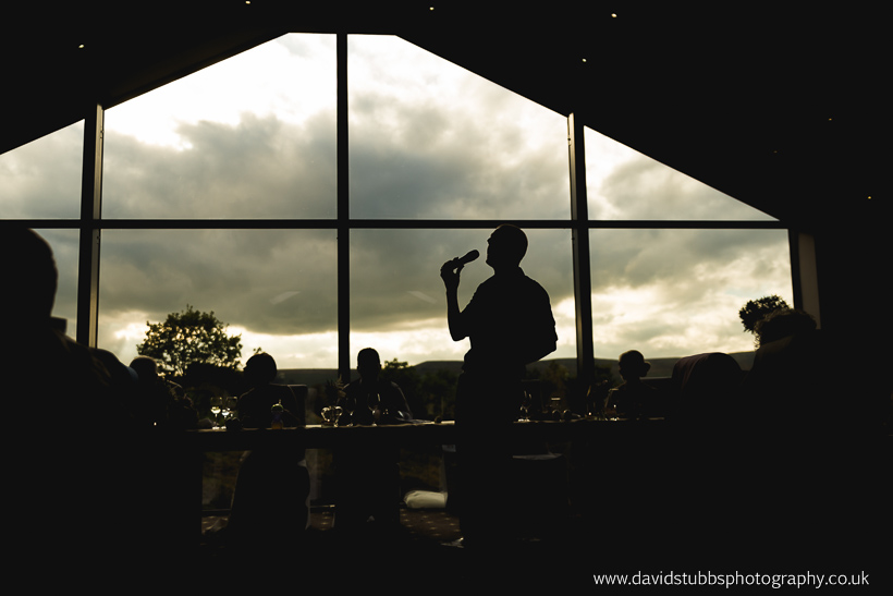 silhouette of waiter